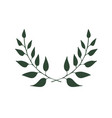 two branches eco banner with two branches vector image