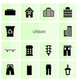 urban icons vector image vector image