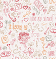 Vintage doodles for Valentines day vector image vector image