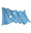 waving flag federated states micronesia vector image vector image