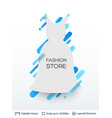 white badge dress sticker vector image