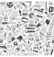 work tools - seamless background vector image vector image
