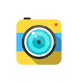 yellow and blue photo camera icon vector image vector image