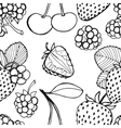 Seamless pattern of berries vector image