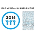 2016 Guys Dance Icon with 1000 Medical Business vector image