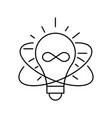 lamp line icon on white background idea symbol vector image