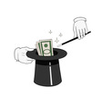 money from hat vector image