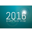a happy new year 2016 vector image