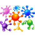 abstract blots balloons vector image vector image