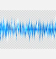 abstract blue sound wave pattern elements with vector image