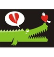 alligator love vector image vector image