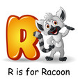 animals alphabet r is for raccoon vector image vector image