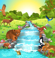 animals at the river vector image vector image
