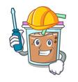 automotive bubble tea mascot cartoon vector image vector image