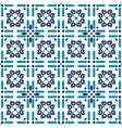 azulejos tiles blue background geometric vector image