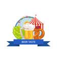 beer taste poster oktoberfest vector image vector image
