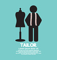 Black Symbol Tailor With Mannequin vector image vector image