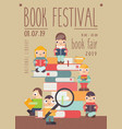 book festival poster vector image vector image