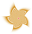 brown sweeping pattern star creates vector image
