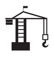 Building crane icon on white background tower