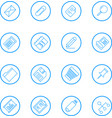 business and office line icons vector image vector image