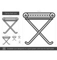 camp-chair line icon vector image