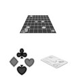 casino and equipment monochrome icons in set vector image vector image