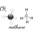 CH4 methane molecul vector image vector image