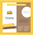 cheese company brochure template busienss template vector image vector image