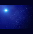 christmas star night sky with shining stars vector image