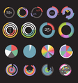 Circle chart templates collection vector image vector image