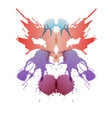 colored rorschach test card vector image vector image