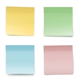 Colorful Paper Notes vector image vector image