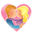 Couple young people kissing vector image vector image