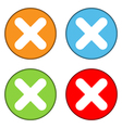 Delete sign button set vector image vector image