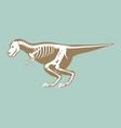 dinosaurs skeleton silhouette bone tyrannosaurus vector image vector image