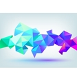 faceted 3d crystal colorful shape banner vector image vector image