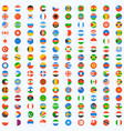 flag world icons vector image