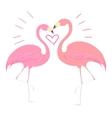 Flamingo bird with heart vector image