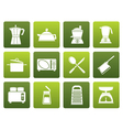 Flat kitchen and household equipment icon vector image vector image