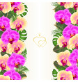 floral vertical border seamless background bouquet vector image vector image