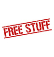 free stuff stamp vector image vector image