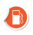 gas station icon orange sticker vector image vector image