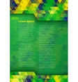 Geometric digital background Brazil 2016 A4 size vector image vector image