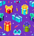 glazed donuts seamless pattern cute party holiday vector image