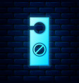 glowing neon please do not disturb icon isolated vector image vector image