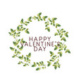 happy valentines day label with flower crown icons vector image vector image
