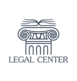 Legal center isolated icon or emblem vector image vector image