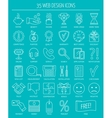 Linear web design icons Line icons for business vector image vector image