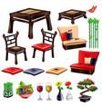 living room interior elements vector image